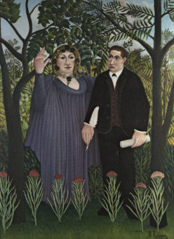 Henri Rousseau. The Muse Inspiring the Poet (the Poet and his Muse). 1909. Масло, холст.