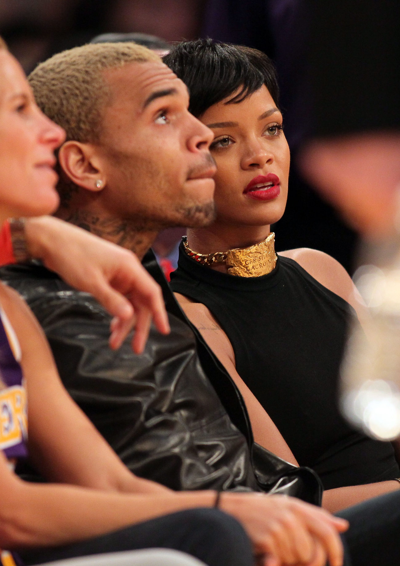 Red Carpet Dresses, Fashion Trends & Celebrity Style - Us Pictures of rihanna fight with chris brown