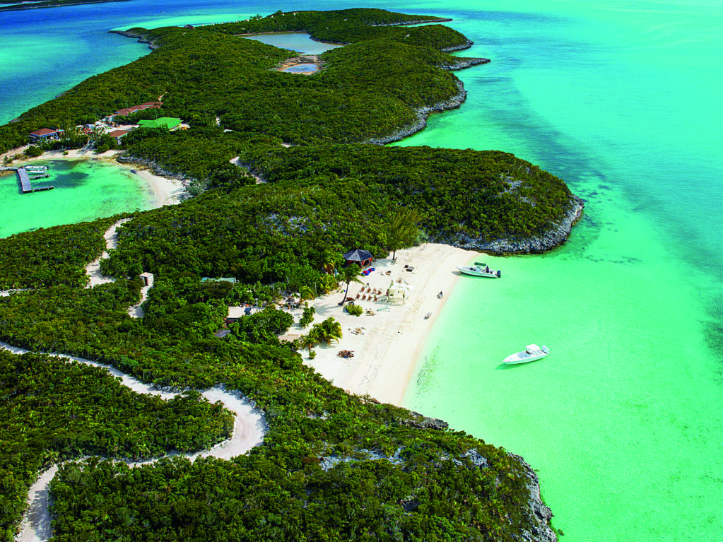 The Little Holls-Pond-Kay Islands in the Bahamas is a star property.