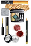 Strass for make-up Strass, 890 rub., Make Up For Ever; lip gloss Photogloss Lip Lacquer, Muse, 2050 rub., Nars; eyeliner Intense Khol Eye Crayon, 23 Gold, 1930 rub., Dolce & amp; Gabbana; sequins for make-up, Regal Red and Salmon Pink, 270 rub. every, MAKEUP2MAKEUP; coating for eyelashes Gold Light Topcoat, 1940 USD., Guerlain; Shadows of the Silk, 909, 1400 rubles., Shu Uemura; shadow 5 Couleurs Precious Rocks, 347 Emerald, 4000 rubles., Dior.