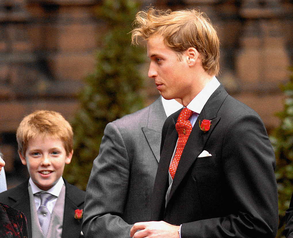 With Prince William at the wedding of his sister Tamara, 2004.