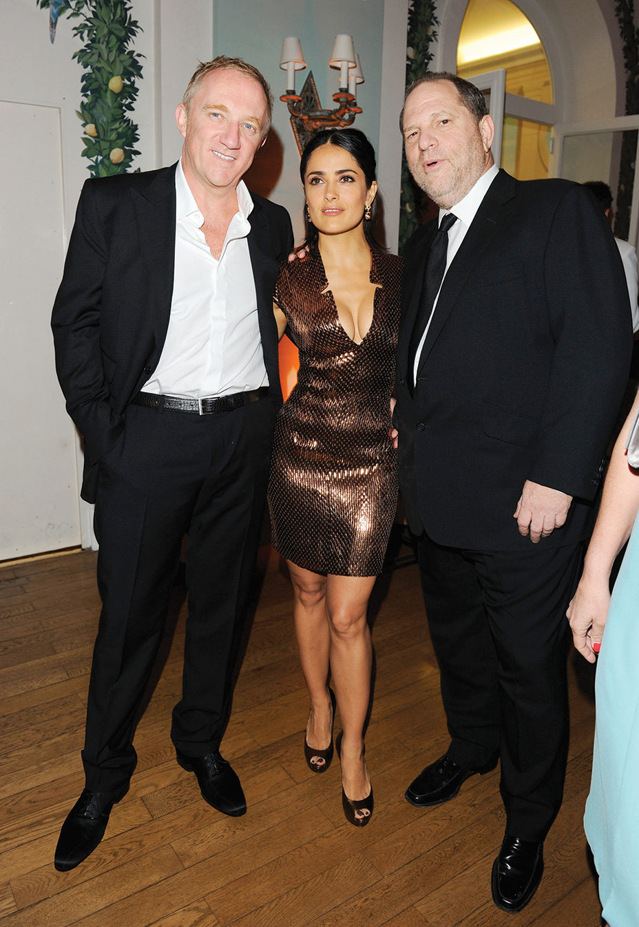 Francois-Henri Pinault, Salma Hayek and Harvey Weinstein