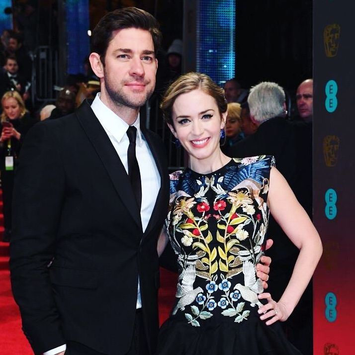 Emily Blunt with her husband John Krasinski