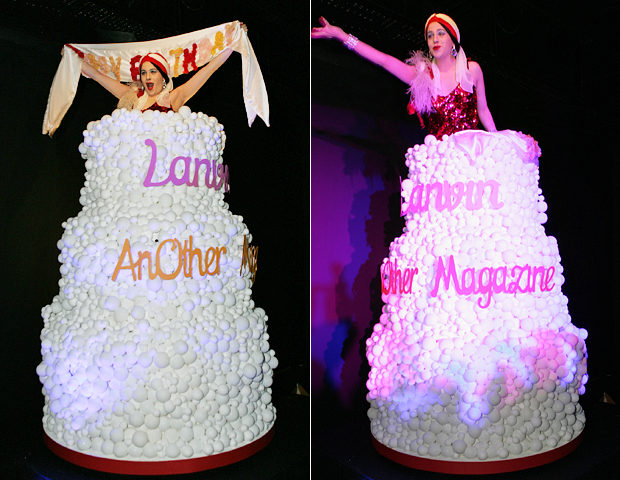 AnOther magazine's 10th birthday - revolving Lanvin cake performance (1).jpg