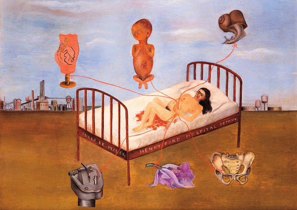 frida kahlo ford hospital painting List of all 99 artworks by frida kahlo go to artist page artists a-z listing art movements schools and groups genres fields nationalities advanced search.