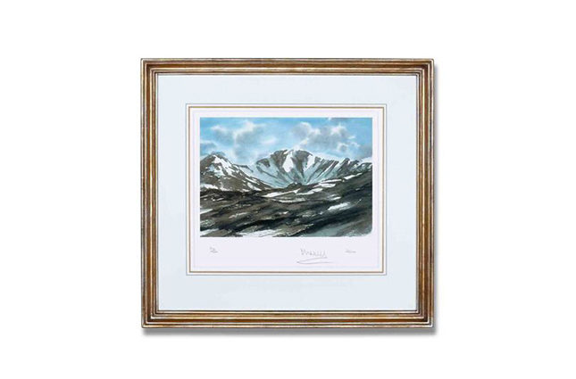 View of Lochnagar, from a limited-edition of 100 lithographs created from one of HRH The Prince of Wales's watercolours of Scotland (£2,500)