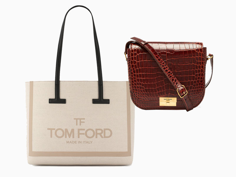 Tom Ford, 55550 рублей, tsum.ru; Saint Laurent, 105911 рублей, магазины Saint Laurent