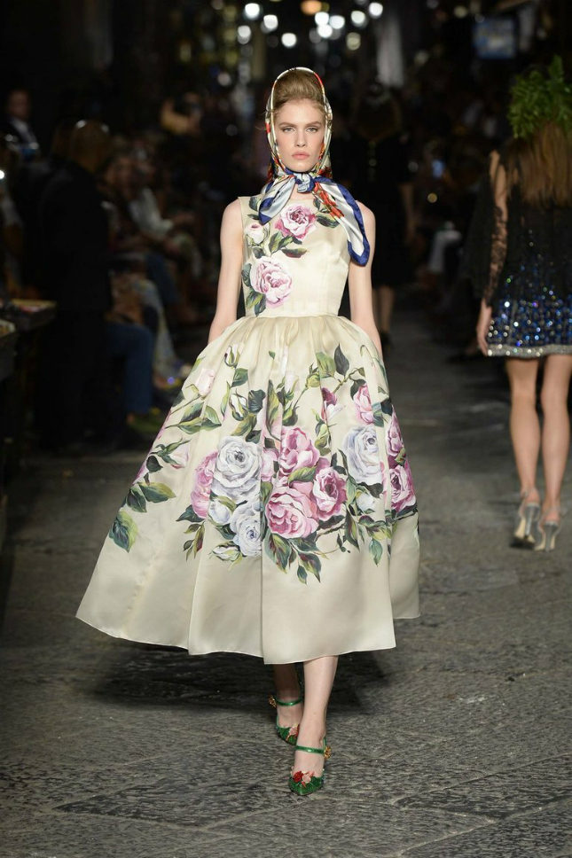 Nice girls in 1950s frocks splattered with flowers were one of Domenico and Stefano's influences