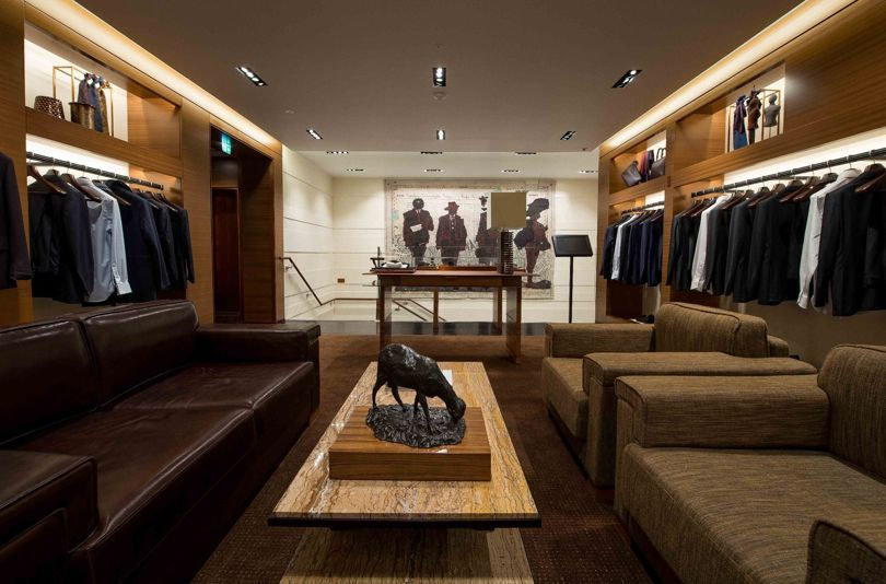 Inside the newly refurbished Ermenegildo Zegna store on Bond Street