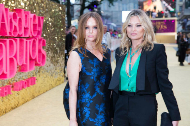Stella McCartney and Kate Moss at the London premiere of the Ab Fab movie