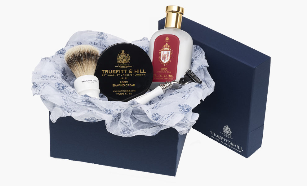 Подарочный набор Truefitt & Hill Luxury Edition Gift Set, £170, truefittandhill.co.uk