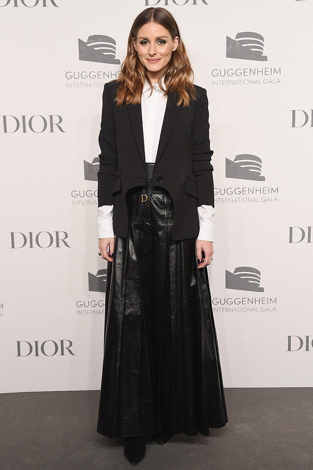 Оливия Палермо в Dior на Guggenheim International Gala pre-party в Нью-Йорке