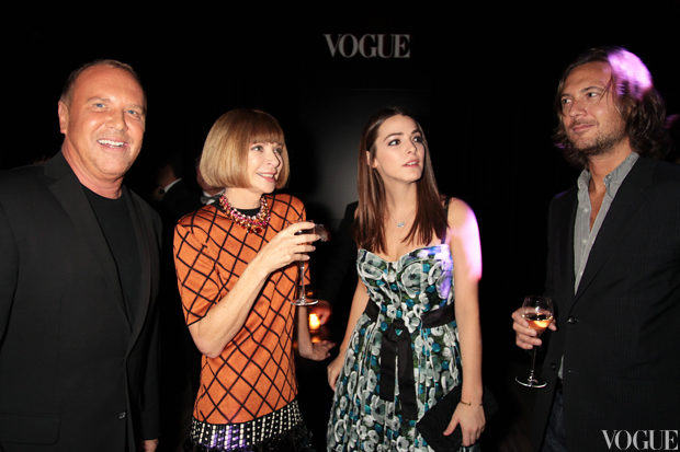 Michael Kors, Anna Wintour, Editor of US Vogue, her daughter Bee Shaffer and guest.jpg