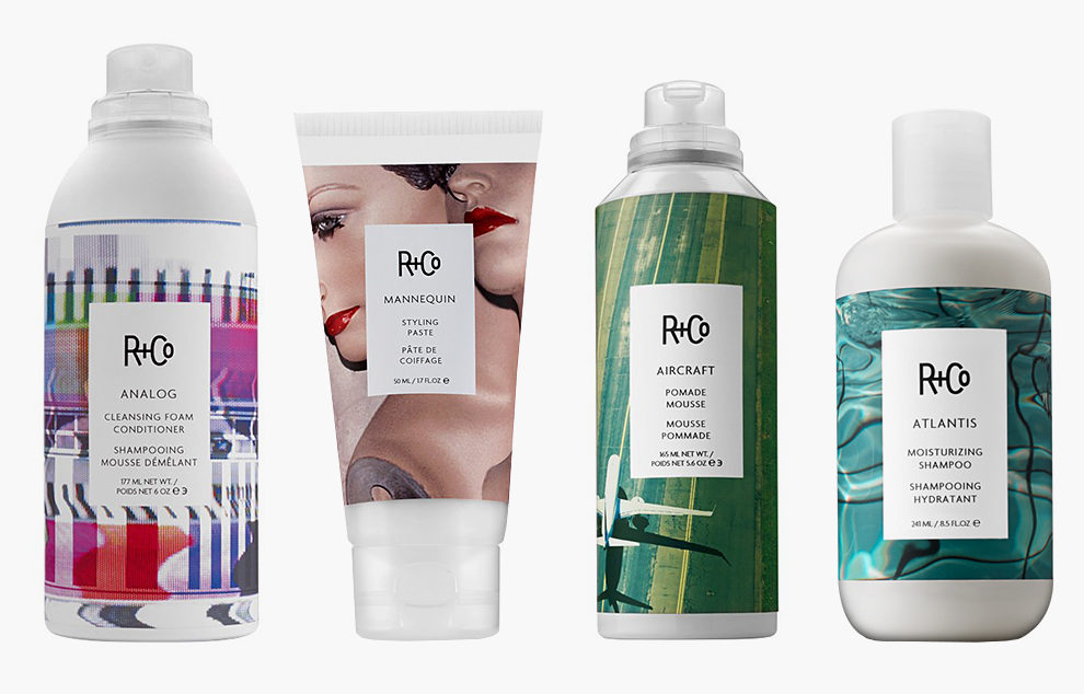 Analogue, Cleansing Foam Conditioner — $29. Mannequin, Styling Paste — $28. Aircraft, Pomade Mousse — $29. Atlantis, Moisturizing Shampoo — $28. Все на randco.com