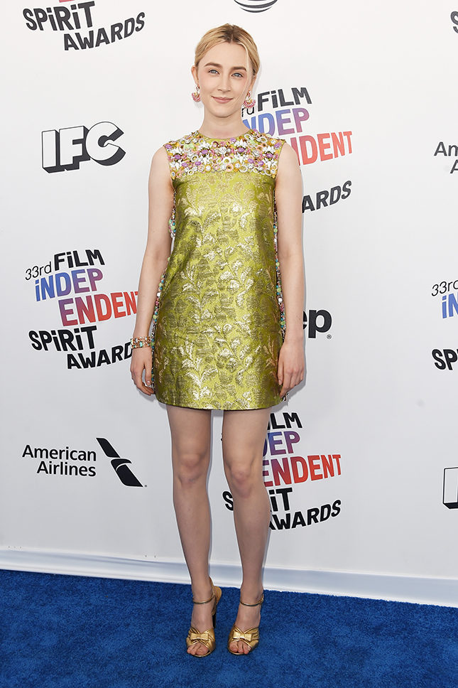 Сирша Ронан в Prada на Film Independent Spirit Awards в Санта-Монике