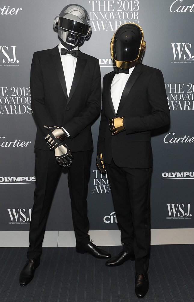 Daft Punk в Saint Laurent на вручении наград премии «Innovator of the Year» в Нью-Йорке