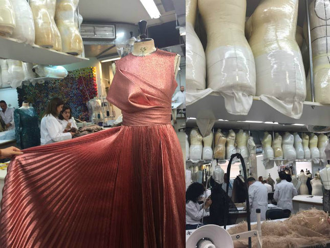 Inside Saab's Beirut atelier, with tailor's dummies of his clients