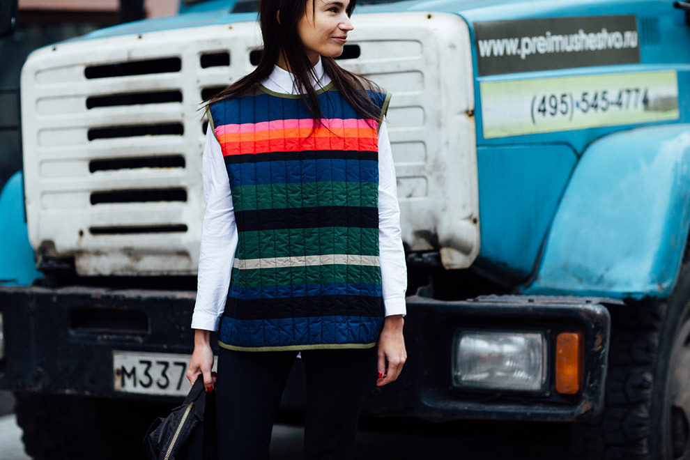 Streetstyle на Mercedes-Benz Fashion Week Russia, часть 1