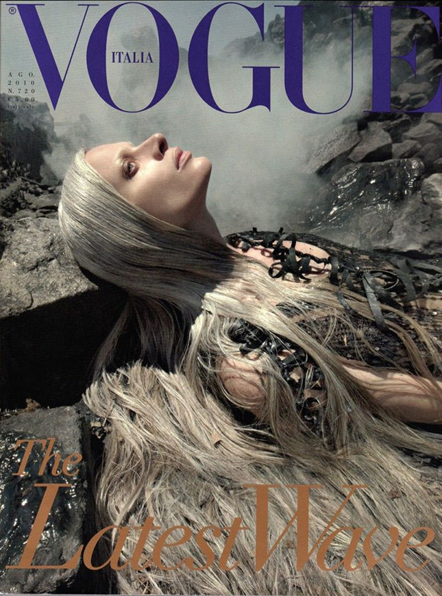 Franca Sozzani's controversial August 2010 Vogue Italia cover inspired by the Deepwater Horizon oil spill in the Gulf of Mexico
