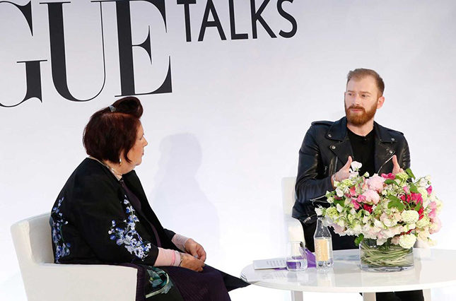 Guram Gvasalia, Demna's brother and CEO of Vetements, in discussion with Suzy at the Vogue Festival in London, 2016
