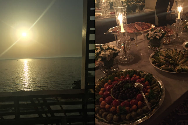 The Saab's hosted a traditional Lebanese feast at sunset