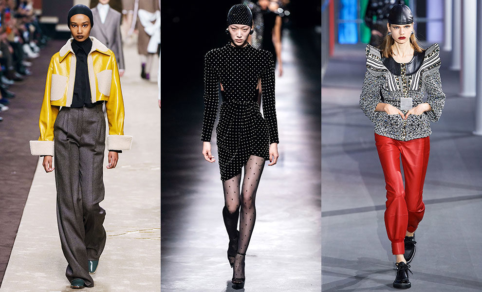 Fendi; Saint Laurent; Louis Vuitton осень-зима 2019