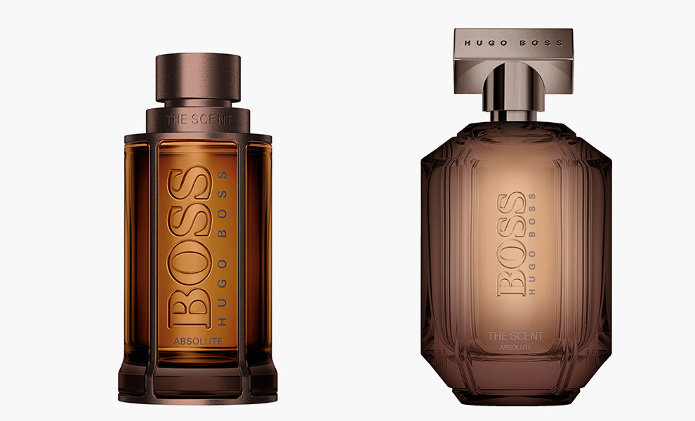 Boss, The Scent Absolute For Him, 6599 рублей; The Scent Absolute For Her, 5599 рублей, letu.ru