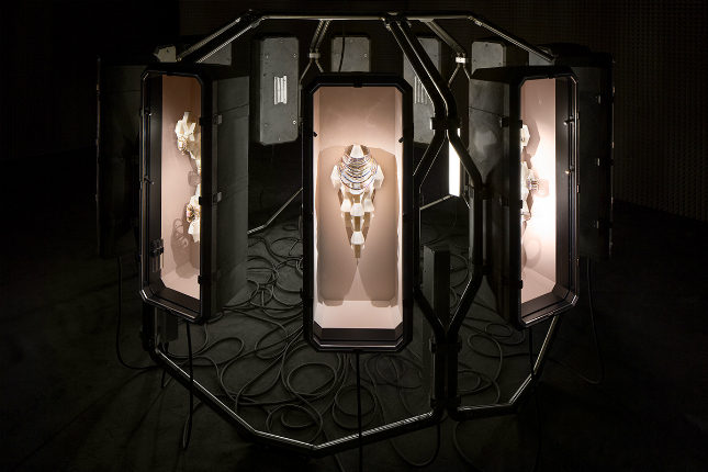 The display for Pierre Hardy's Haute Joiallerie collection for Hermès echoed the geometry of the gems and their settings