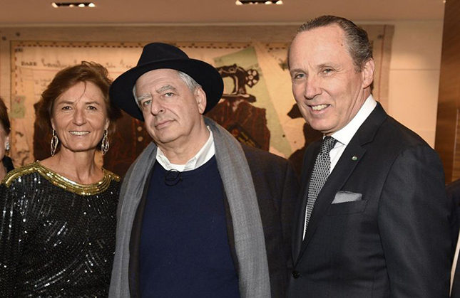 Anna Zegna with artist William Kenridge and Gildo Zegna