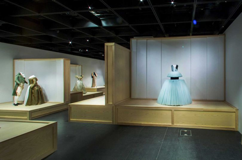 View of the Met Museum's Masterworks: Unpacking Fashion exhibition, which opens on this Viktor & Rolf tulle ball gown from 2010