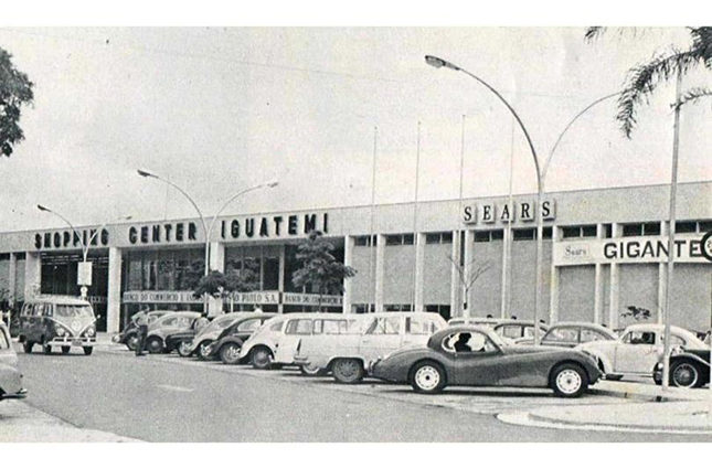 Iguatemi in 1966, when it was the first luxury mall in Brazil - and possibly the whole of Latin America