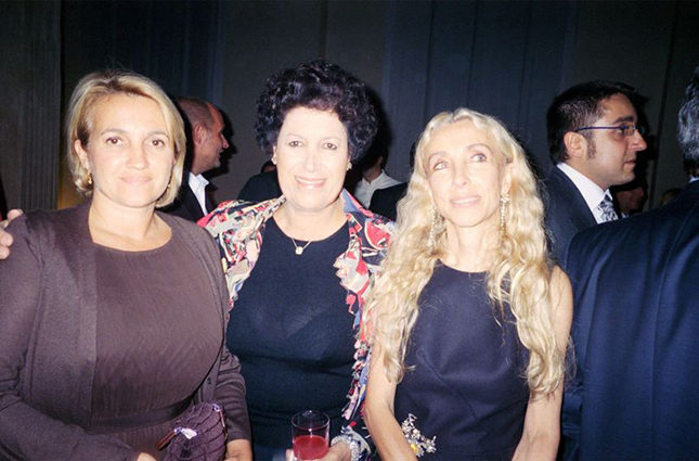 Franca with Silvia and Carla Fendi
