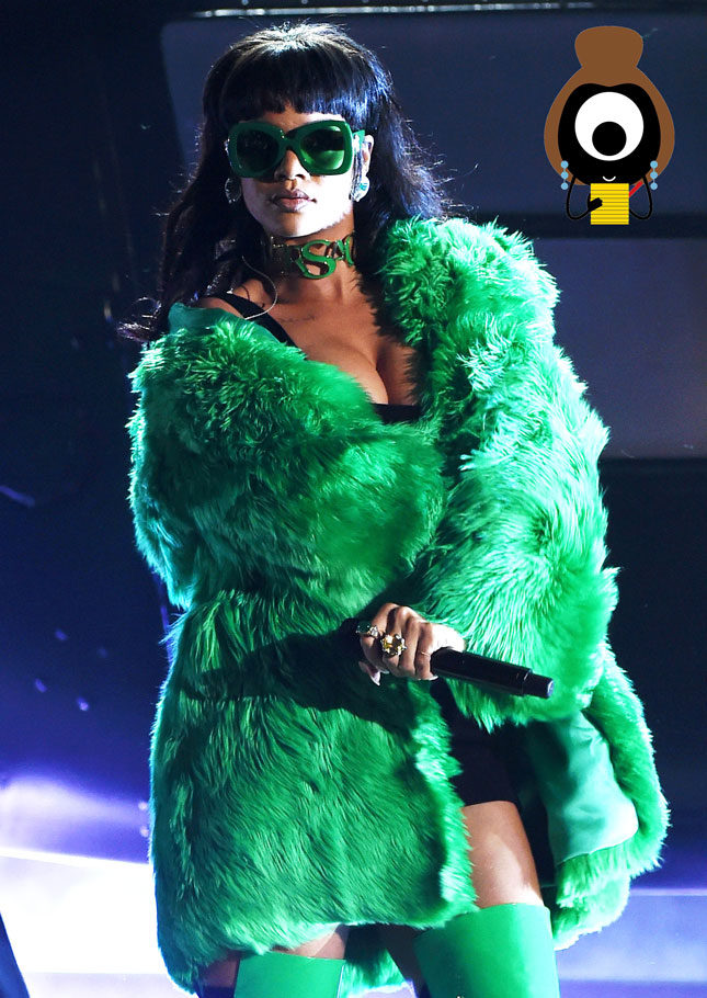 Rihanna plunges back to the Seventies?