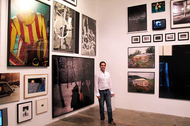 "Amir Shariat at World Class Boxing art space at show ""Drawn and Quartered"".jpg"