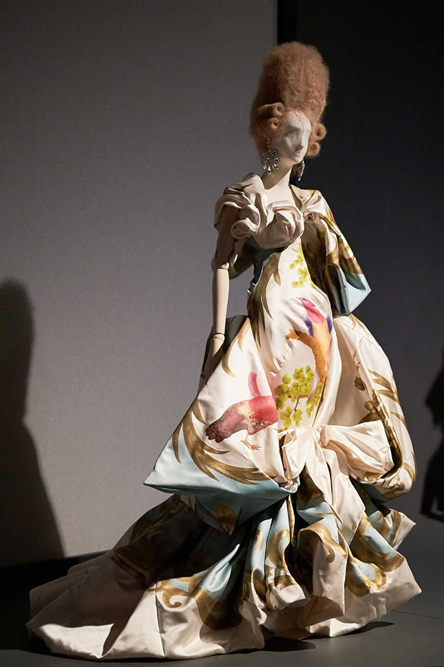 Vivienne Westwood often references 18th-century portraiture in her couture collections