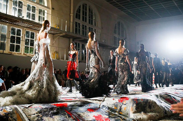 The McQueen catwalk was covered with Scottish