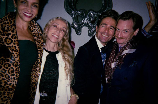 Farida Khelfa, Franca, Vincent Dare, Hamish Bowles in Paris, 2010