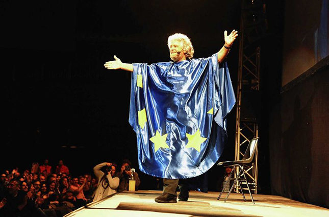 Italian comedian-turned-politician Beppe-Grillo, founder of the