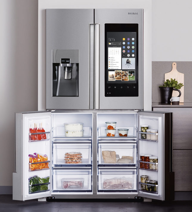 Samsung, 3 -Door French Door Refrigerator with Family Hub, $2399, samsung.com