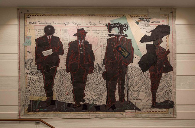 Tapestry by William Kentridge for the Ermenegildo Zegna store