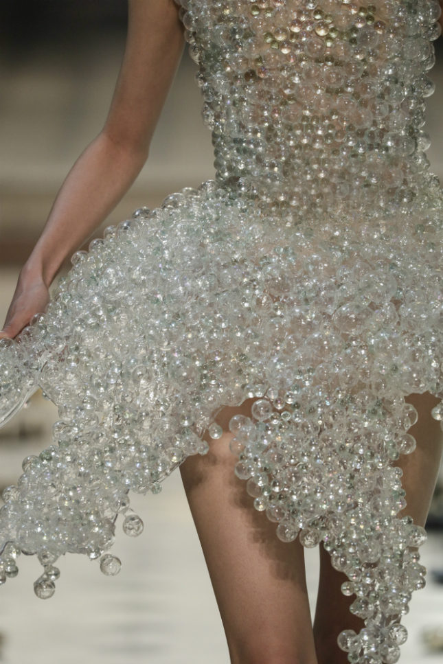 Detail of the bubble dress