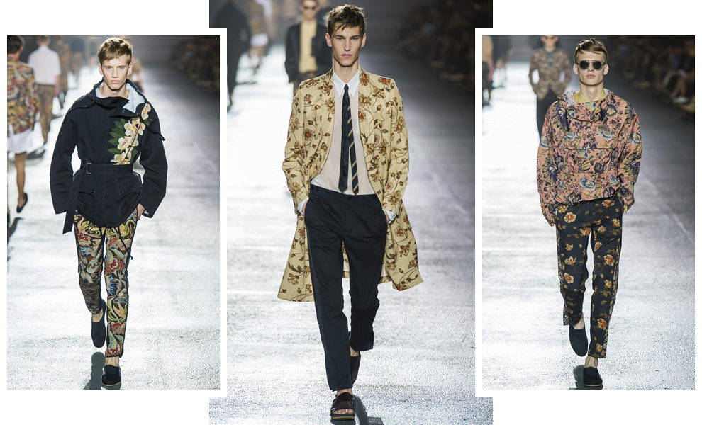 Dries Van Noten men весна-лето 2014