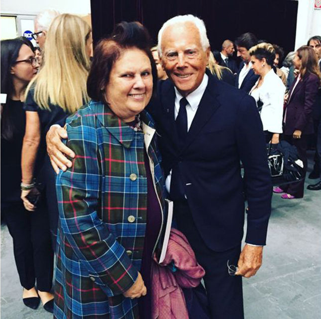 Suzy with Giorgio Armani at the official opening of Milan Fashion Week