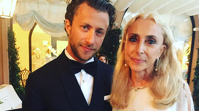 Franca Sozzani in Rome with son Francesco Carrozzoni celebrating his film of mother-father relationship in Franca: Chaos and Création