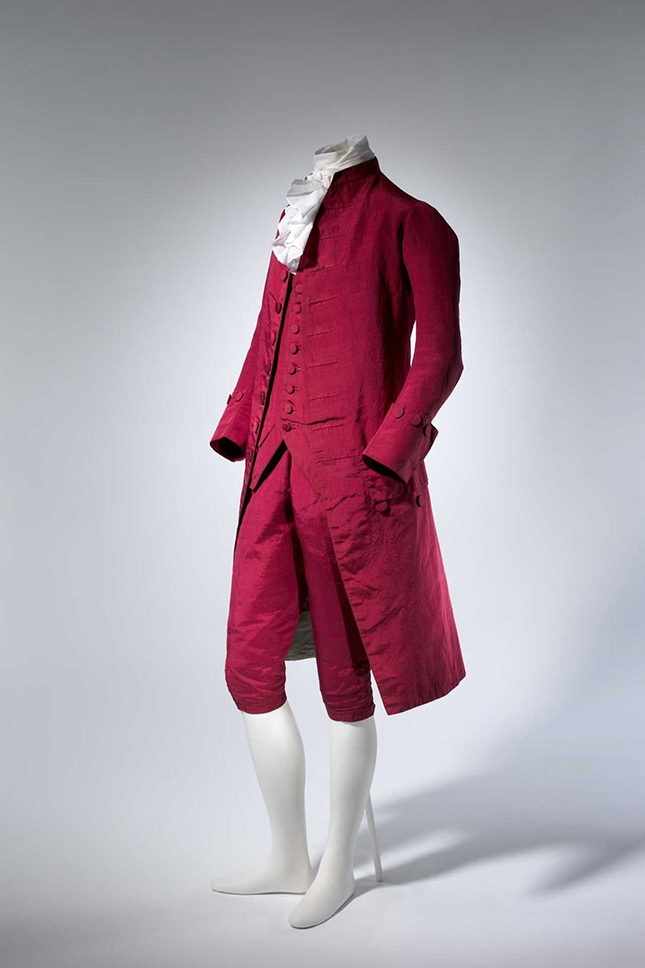 Gentleman's suit, probably British, 1770-80.