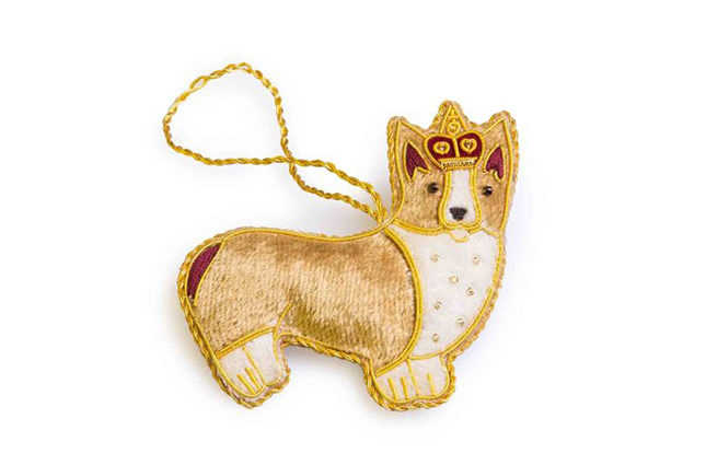 The corgi dog is famous for being favoured by the Queen as well as her mother, so much so that Highgrove has commemorated its significance in this decoration, which would look pretty on a Christmas tree. The corgi (£9.95) is made using the traditional