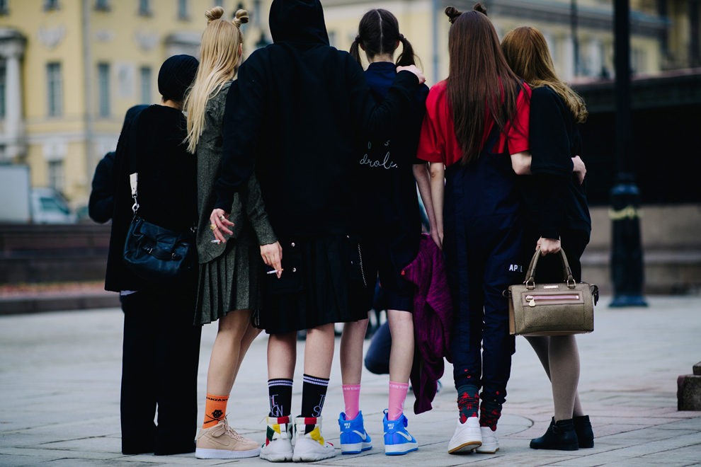 Streetstyle на Mercedes-Benz Fashion Week Russia