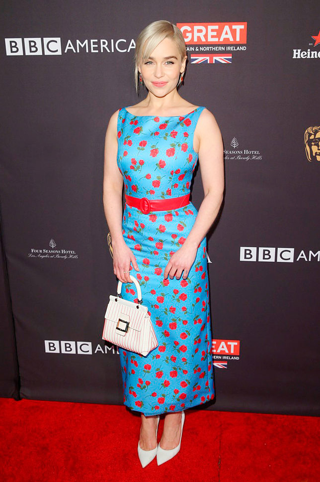 Эмилия Кларк в Michael Kors на BAFTA Tea Party в Лос-Анджелесе