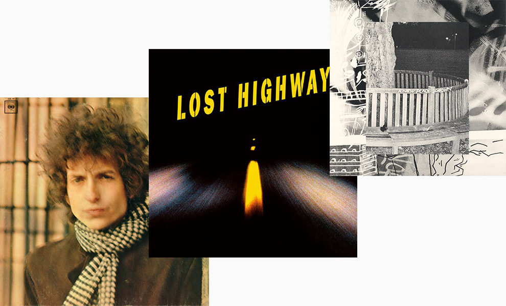 Обложки альбомов: Bob Dylan, 'Blonde on Blonde', 'Lost Highway' OST, Archy Marshall's (King Krule) A New Place 2 Drown