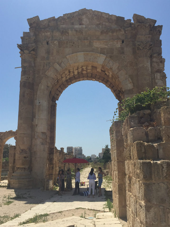 Saab gave Suzy a tour of Southern Lebanon, including a visit to the ancient Roman city of Tyre, now a UNESCO World Heritage Site